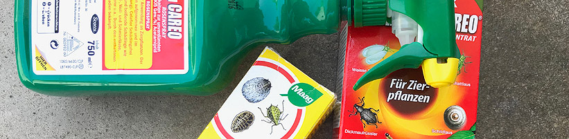 Bild garten.ch: Pflanzenschutzmittel für Hobbygärtner