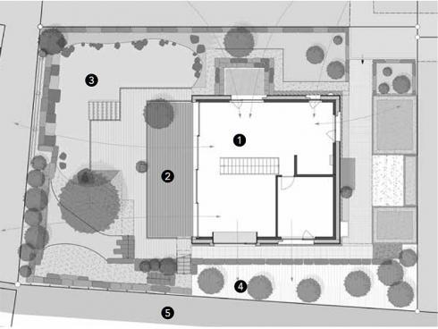 Gartenplan Angelika Studer Garten – Architektur, Wila