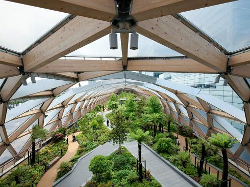 Bild: Gillespies Crossrail Place Roof Garden