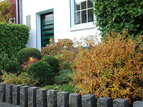 Bild BGL: Bei einem Fensterblick auf den abwechslungsreich gestalteten Vorgarten lädt der Herbst zum Staunen ein.