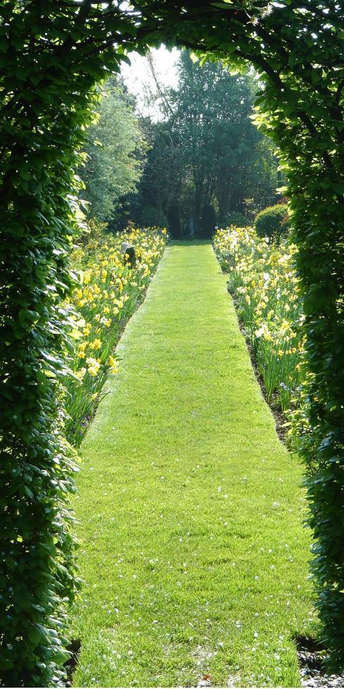 Foto: BGL. - Das Prinzip der optischen Täuschung lässt sich perfekt auf Privatgärten übertragen. Auch hier kann mit geschickt geplanten Sichtachsen ein Gefühl von Weitläufigkeit inszeniert werden.
