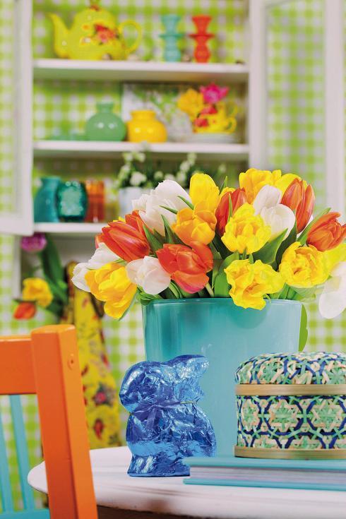 Foto: TulpenZeit/ibulb. - Farbenfrohe Tulpen sind ein fester Bestandteil jeder Osterdekoration, gehören sie doch zu den Frühlingsboten par excellence.
