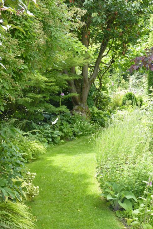 Bild BGL: Wege spielen in Gärten eine entscheidende Rolle. Sie verbinden die einzelnen Gartenräume miteinander und machen sie erlebbar. Dabei können sie geradewegs auf das Ziel zusteuern oder schwungvoll über das Grundstück führen, mal hinter einem Objekt verschwinden, dann wieder hinter einer Hecke auftauchen und so immer wieder neu überraschen.