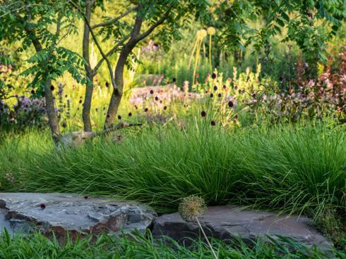 """Bild: Graf Luckner/BGL - Peter Berg: """"Ob als Wegebelag, als Skulptur oder als Baustoff - jeder Naturstein ist individuell, steht symbolisch für Werte wie Langlebigkeit und Natürlichkeit und ist ein attraktives und ökologisch wertvolles Element eines Naturgartens."""""""