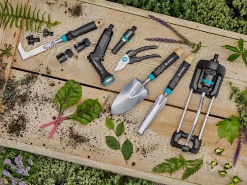 GARDENA EcoLine Sortiment. Mit dem neuen EcoLine-Sortiment setzt GARDENA als verantwortungsbewusste Marke ein klares Zeichen für die Umwelt und die nachhaltige Qualität ihrer Produkte. Fotorechte: GARDENA