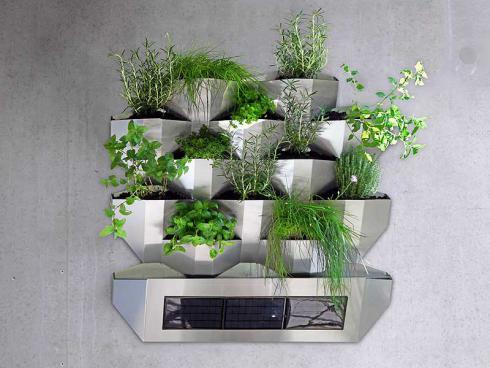 Garten an die Wand! Vertikale Bepflanzung ist die perfekte Lösung bei begrenztem Platz. An der Giardina präsentiert Green Ambassador eine clevere Lösung, die sich selbst bewässert (Bild: Green Ambassador)