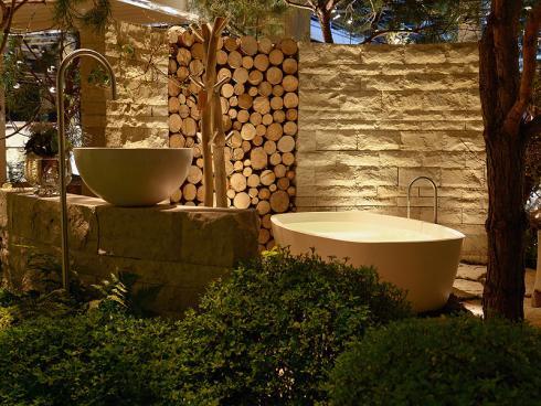 Bild: Giardina 2016 Gartenromantik Outdoor Bad