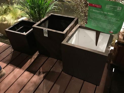 Bild garten.ch: Isolierte Pflanzkübel helfen bei der Überwinterung frostempfindlicher Pflanzen.