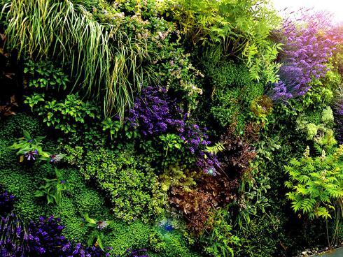 Bild: Giardina 2016 Gartenromantik Pflanzenwand mit Stauden
