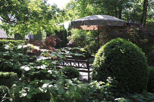 Bild: lauschiges Plätzchen unter Bäumen jardinsuisse