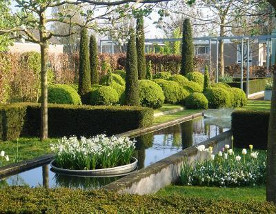 Bild BGL: Akkkurat geschnittene Hecken, zu Kugeln geformte immergrüne Gehölze und als Solitäre platzierte Koniferen - mit einem professionellen Formschnitt wird ein Privatgarten zum durchkomponierten Kunstwerk.