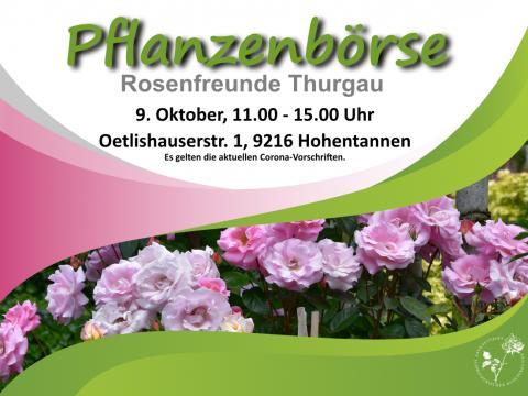 PFLANZENBÖRSE - GSRF, ROSENGRUPPE THURGAU