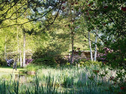 Ansicht des Parks der Gärtnerei Blattgrün