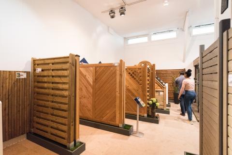 Ausstellung Sichtschutz, Terrassenboden, Gartengestaltung