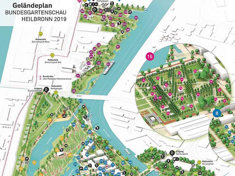BUGA 2019: Ausschnitt Geländeplan
