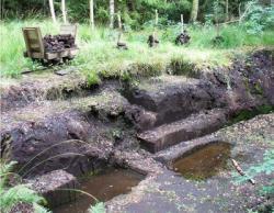 BIld wikipedia.de: Historischer Torfstich - Torfabbau im Wurzacher Ried bis 1997 selbst fotografiert von User:enslin am Torfstecherweg 11.9.2005